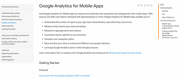 Google Analytics for Mobile Apps
