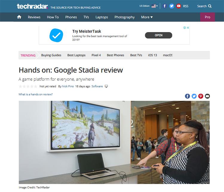 Google I/O 2019のStadia体験会の様子