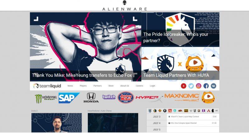 世界有数のプロゲームチームteam liquidのWebサイト
