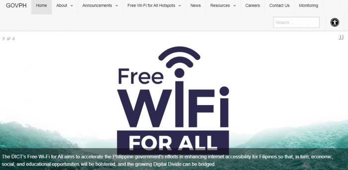 すべての人に無料Wi-Fiサービスを届けるフィリピン政府のプロジェクト(GOVPHより)